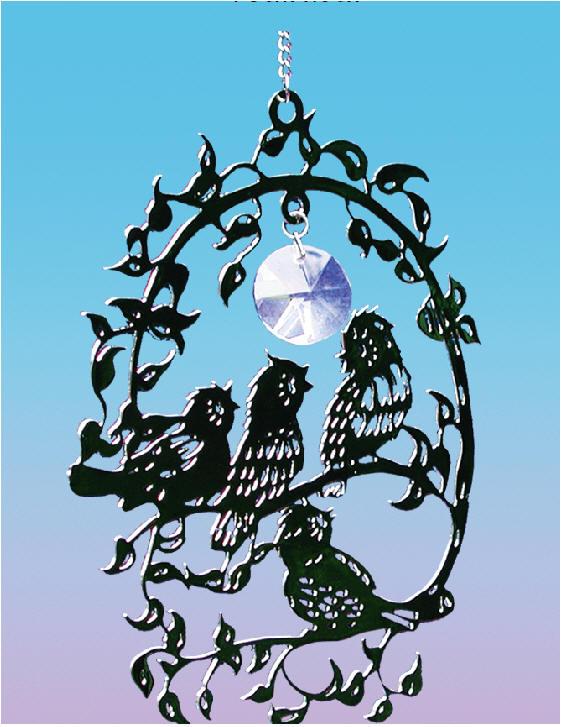 FensterBild-Soleil Lune et étoile 17 x 48,5 cm