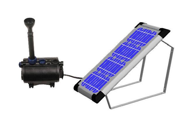 Ext rieur et jardin for Pompe solaire pour bassin exterieur