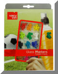 Glass Markers - Football